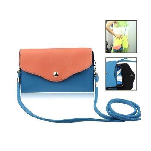 Color Bag Sininen Nahkalaukku Suurikokoisille Älypuhelimille