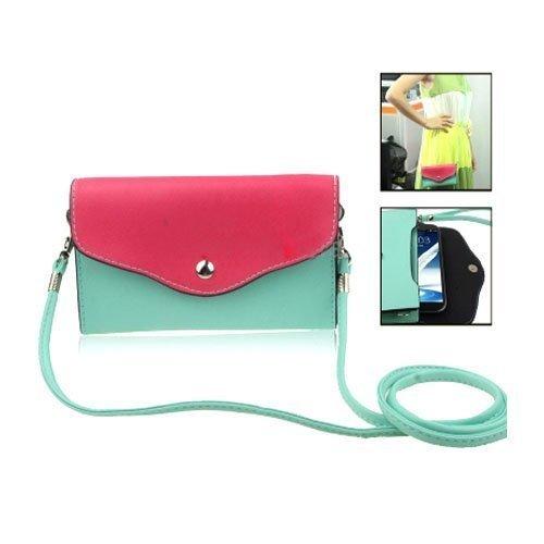Color Bag Vihreä Nahkalaukku Suurikokoisille Älypuhelimille