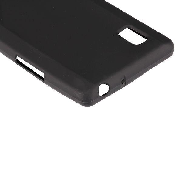 Color Shell Musta Lg Optimus L9 Silikonikuori