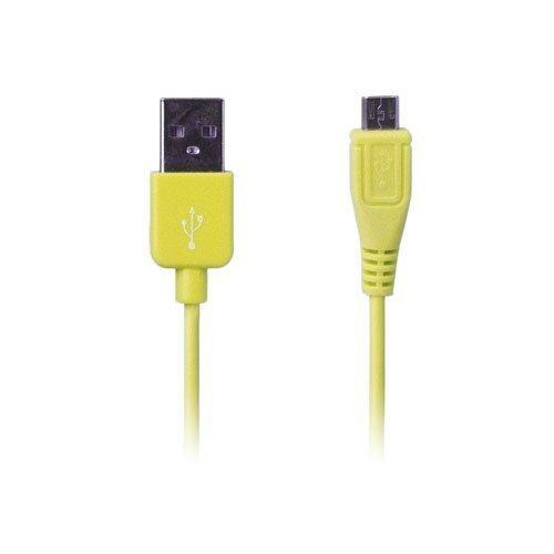 Colored Keltainen 1m Micro Usb Data- Ja Latauskaapeli Älypuhelimille