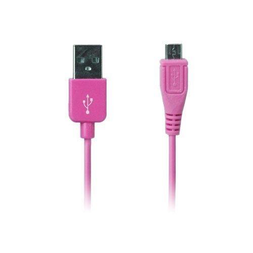 Colored Kuuma Pinkki 1m Micro Usb Data- Ja Latauskaapeli Älypuhelimille