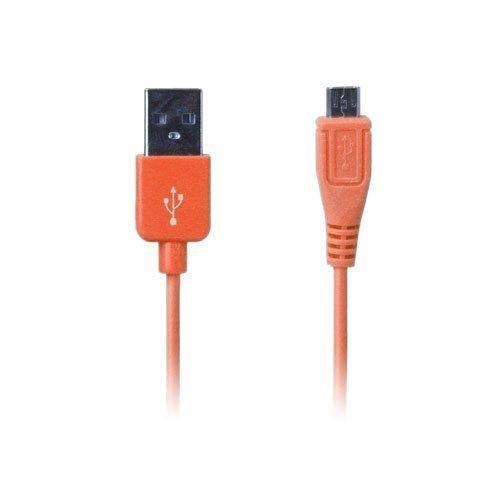 Colored Oranssi 1m Micro Usb Data- Ja Latauskaapeli Älypuhelimille