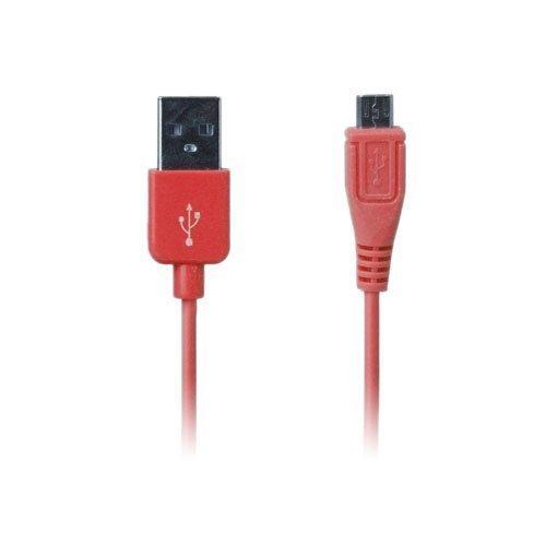 Colored Punainen 1m Micro Usb Data- Ja Latauskaapeli Älypuhelimille