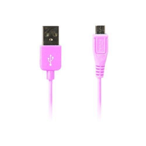 Colored Vaalea Pinkki 1m Micro Usb Data- Ja Latauskaapeli Älypuhelimille