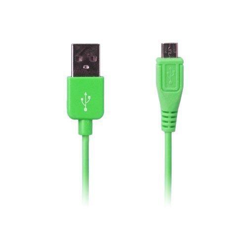 Colored Vihreä 1m Micro Usb Data- Ja Latauskaapeli Älypuhelimille