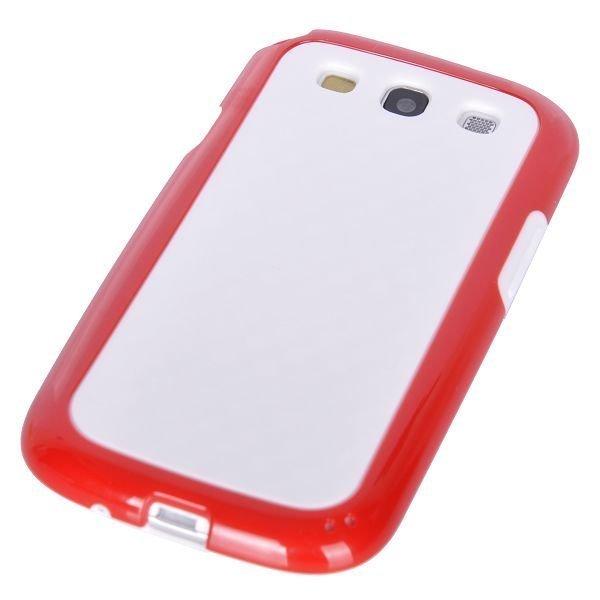Coloredge Punainen Samsung Galaxy S3 Silikonikuori