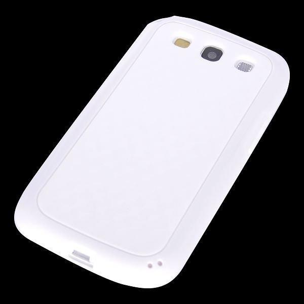 Coloredge Valkoinen Samsung Galaxy S3 Silikonikuori
