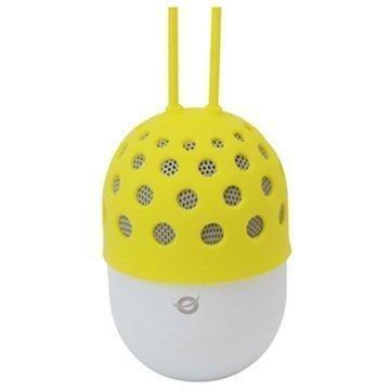 Conceptronic Vedenpitävä LED-valaistu Bluetooth Kaiutin Keltainen