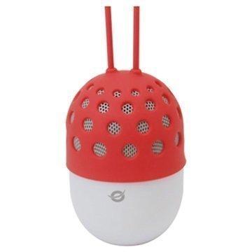 Conceptronic Vedenpitävä LED-valaistu Bluetooth Kaiutin Punainen