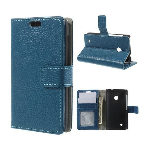 Cowhide Sininen Nokia Lumia 530 Aito Nahkakotelo