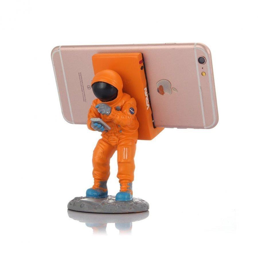 Creative Avaruusmies Pöytäteline Älypuhelimille Oranssi