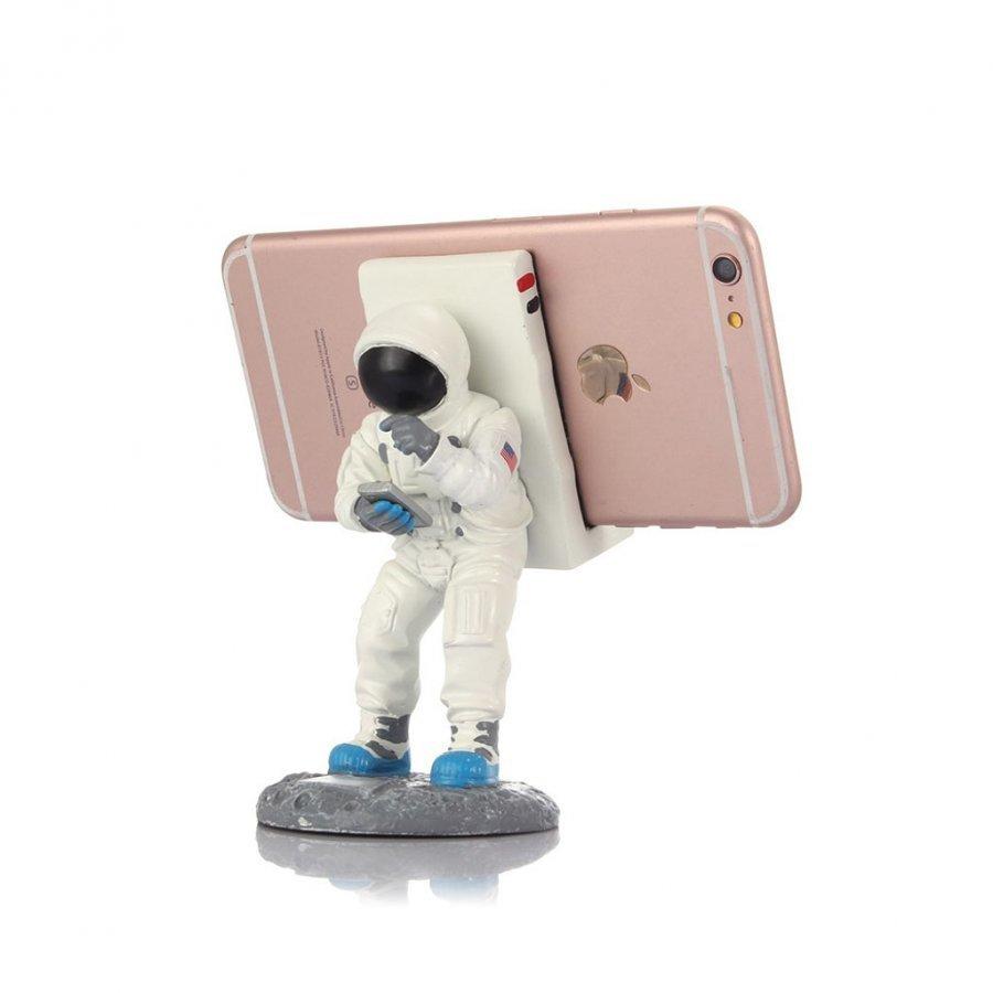 Creative Avaruusmies Pöytäteline Älypuhelimille Valkoinen