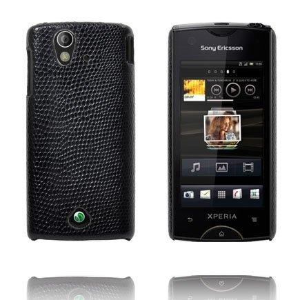 Croco Musta Sony Ericsson Xperia Ray Suojakuori