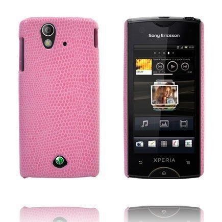 Croco Pinkki Sony Ericsson Xperia Ray Suojakuori