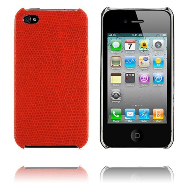 Croco Punainen Iphone 4 Suojakuori