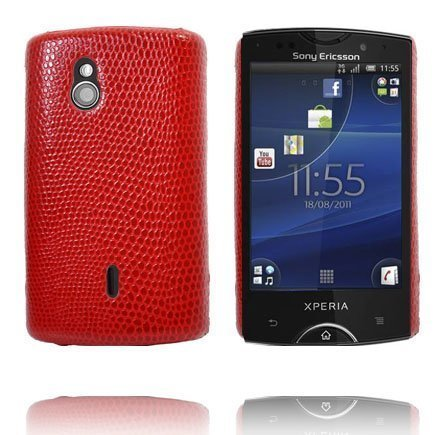Croco Punainen Sony Ericsson Xperia Mini Pro Suojakuori