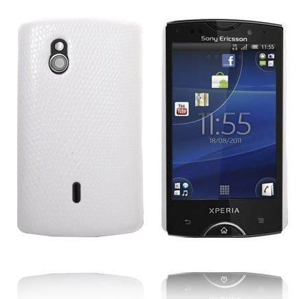 Croco Valkoinen Sony Ericsson Xperia Mini Pro Suojakuori