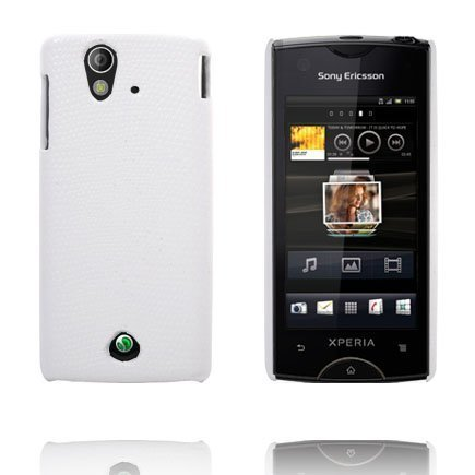 Croco Valkoinen Sony Ericsson Xperia Ray Suojakuori