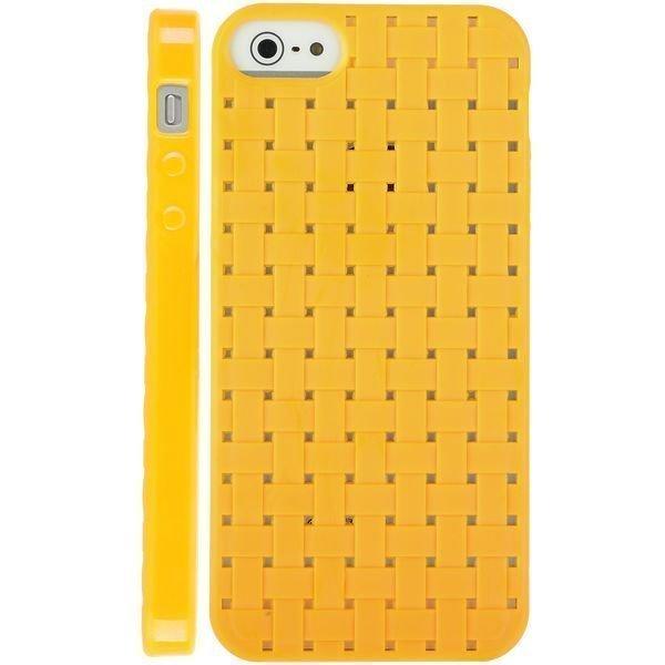 Cross Stitch Keltainen Iphone 5 Silikonikuori