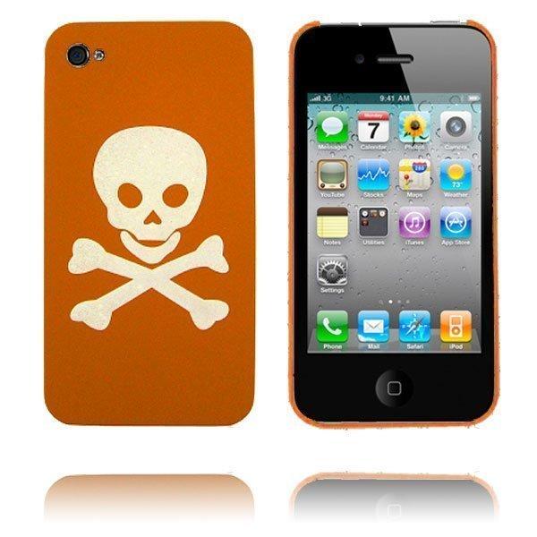 Crossbones Oranssi Iphone 4 Suojakuori