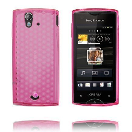 Cubes Pinkki Sony Ericsson Xperia Ray Suojakuori