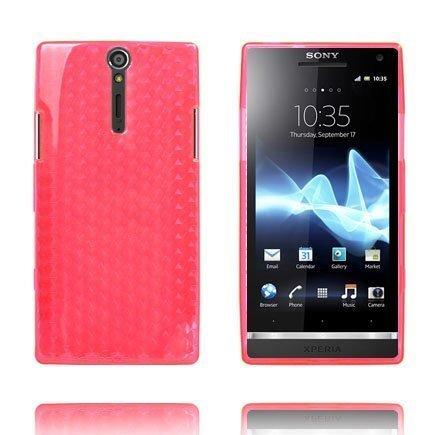 Cubes Pinkki Sony Xperia S Suojakuori