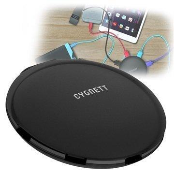 Cygnett SuperCharger UFO 5-Porttinen USB-Laturi Musta