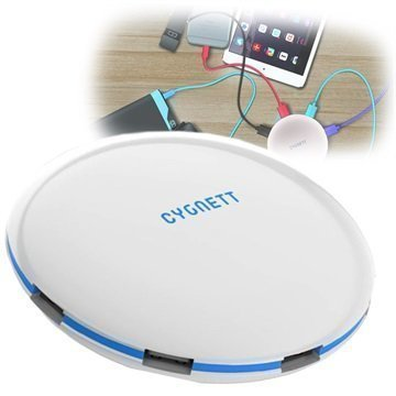 Cygnett SuperCharger UFO 5-Porttinen USB-Laturi Valkoinen