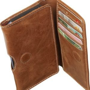 "D.Bramante Leather Wallet Closed 4,8"" Golden Tan"