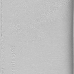 "D.Bramante Leather Wallet Closed 4,8"" Smooth White"