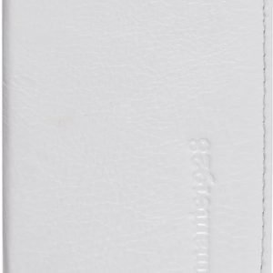 D.Bramante Leather Wallet Open iPhone 5 Smooth White
