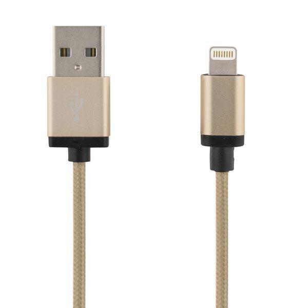 DELTACO PRIME USB-kaapeli lightning MFi 2m kulta