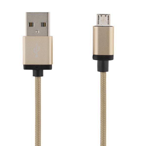DELTACO PRIME USB-synk-/latauskaapeli USB Micro B 1m kullanvärinen