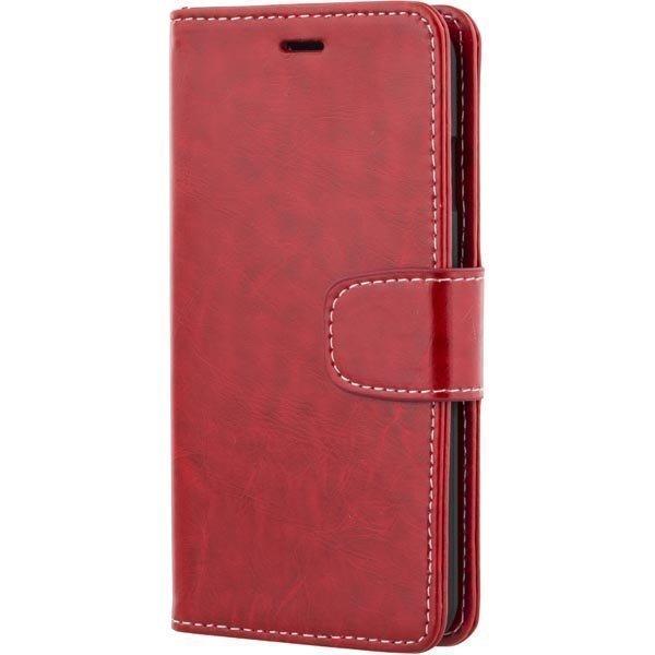 DELTACO iPhone 6 lompakkokuori tekonahkaa punainen