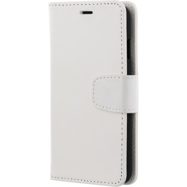 DELTACO iPhone 6 lompakkokuori tekonahkaa valkoinen