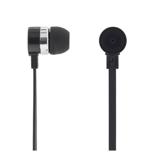 DELTACO in-ear nappikuulokkeet mic & vastausnappi 1 2m kaapeli must