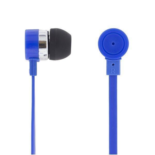 DELTACO in-ear nappikuulokkeet mic & vastausnappi 1 2m kaapeli sini