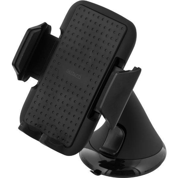 DELTACO puhelinteline autoon sääd. kiinnike imukuppi musta