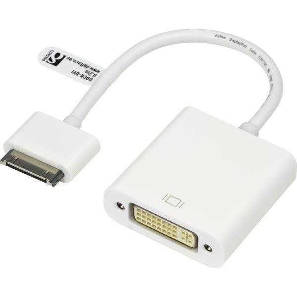 DELTACO sovitin telakkaliittimestä DVI-D Single Link 24+5-pin na