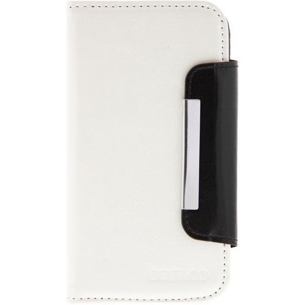 DELTACO suojus/lompakko Samsung Galaxy S4:lle 3 korttipaikk val/musta