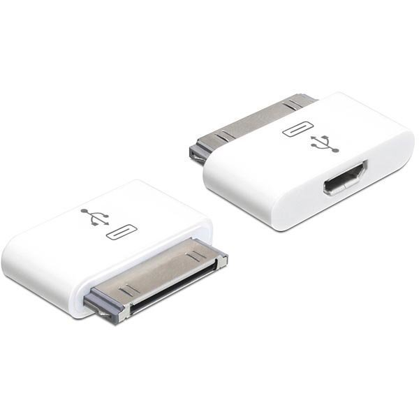 DeLOCK Apple 30-pin sovitin Apple 30-pin-Tyyppi Micro B na valk.