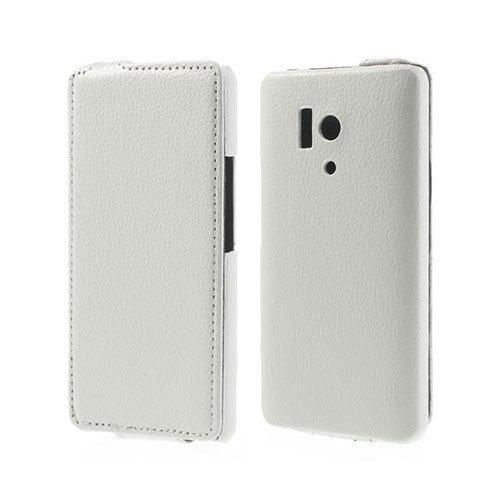 Delta Valkoinen Huawei Honor 3 Nahkakotelo