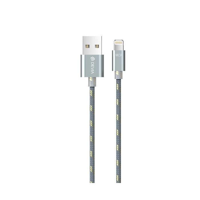 Devia iWonder iPhone Lightning / Micro USB latauskaapeli Harmaa