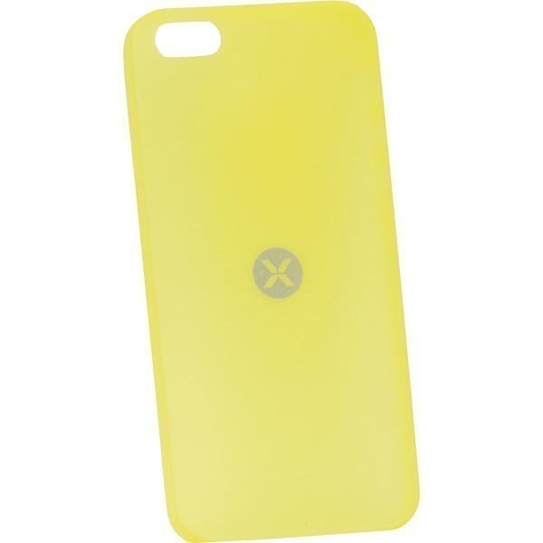 Dexim AOU Fashion ohut muovikuori iPhone 5 puhelimelle 0 35mm kelt