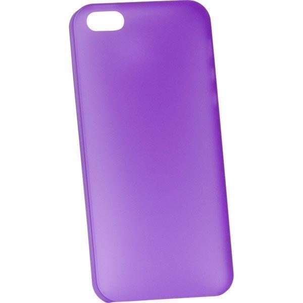 Dexim AOU Fashion ohut muovikuori iPhone 5 puhelimelle 0 35mm lila