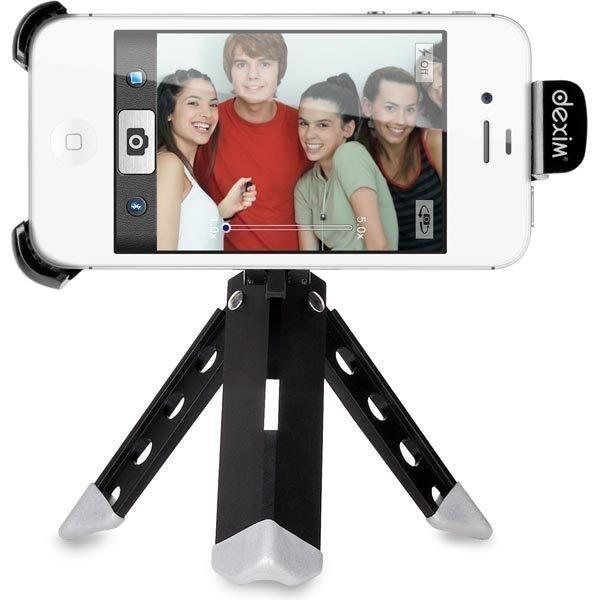 Dexim ClickStik kolmijalka teline ja Bluetooth-laukaisin musta