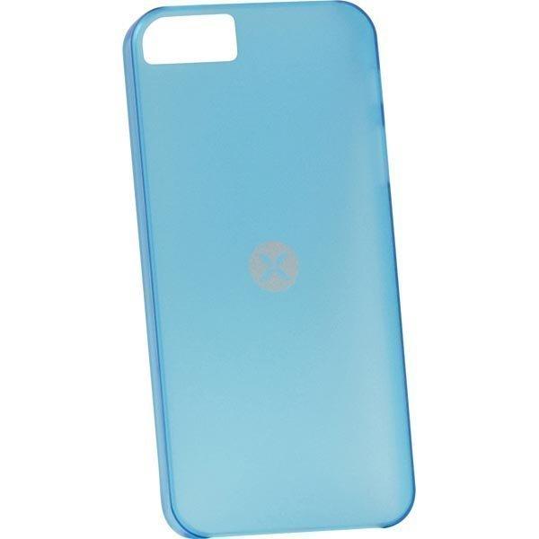 Dexim Mystery ohut muovikuori iPhone 5 puhelimelle 0 5mm sininen