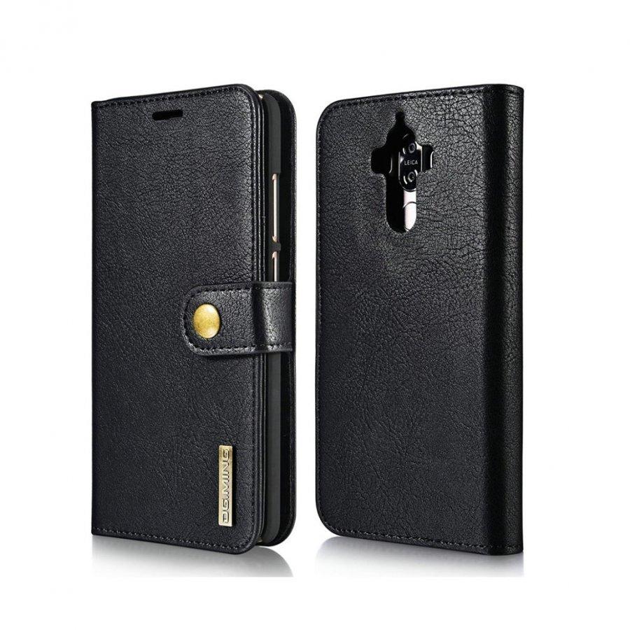 Dg.Ming Huawei Mate 9 Haljasnahka Kotelo Lompakko Musta
