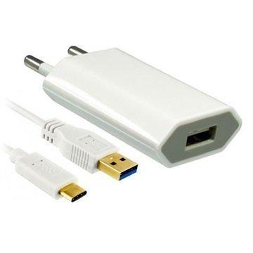 Dinic USB 3.1 Tyyppi-C Matkalaturi Valkoinen