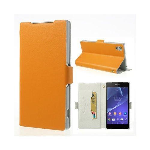 Diplomat Oranssi Sony Xperia Z2 Aito Nahkakotelo